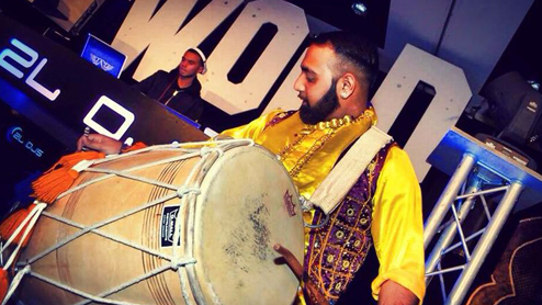 Dhol Players and Giddha Dancers